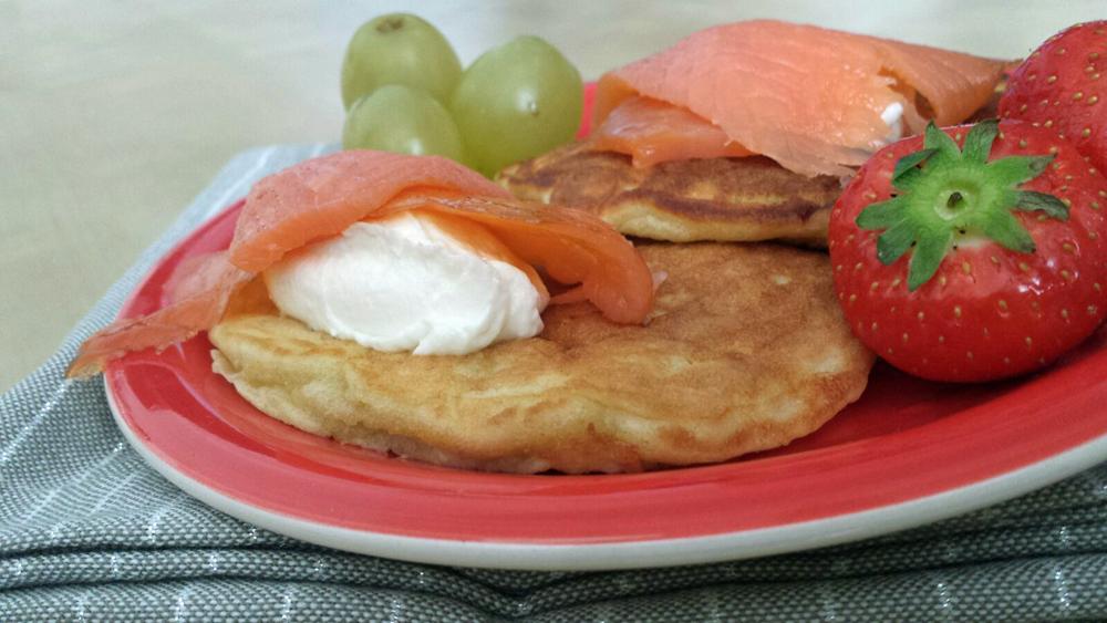 Pancake With Cheese Cream & Salmon